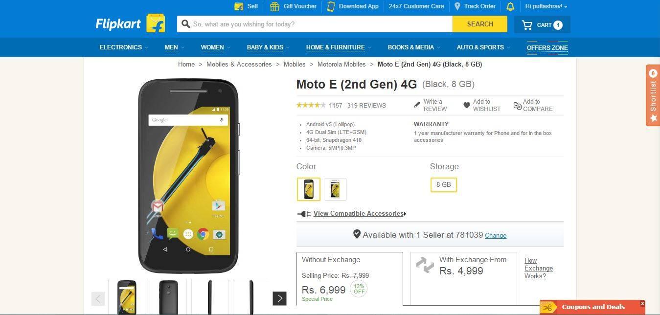 Motorola Moto E 2nd Gen 4G