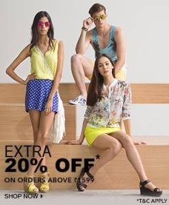 Jabong Fashion extra 20% Off Offers