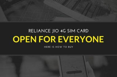 How to buy Jio 4G Sim CARD