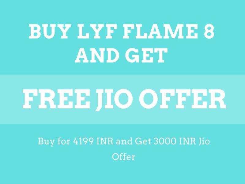 LYF FLAME 8 Jio Offer