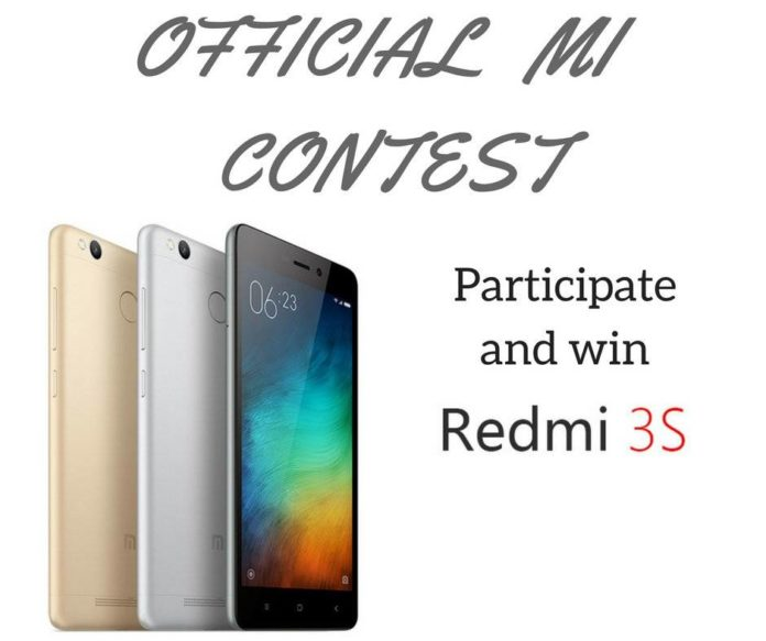 Mi Contest Win Redmi 3s