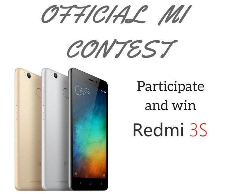 Mi Contest Win Redmi 3s