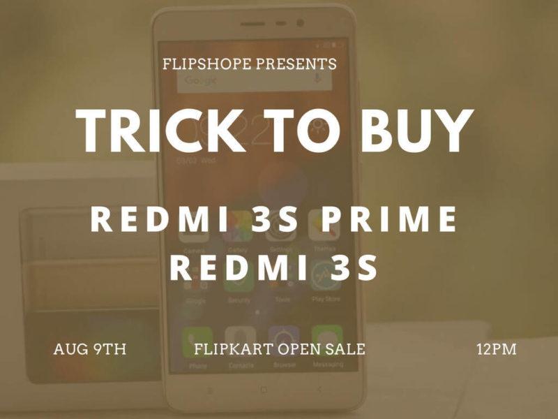 Redmi 3s Prime flash sale