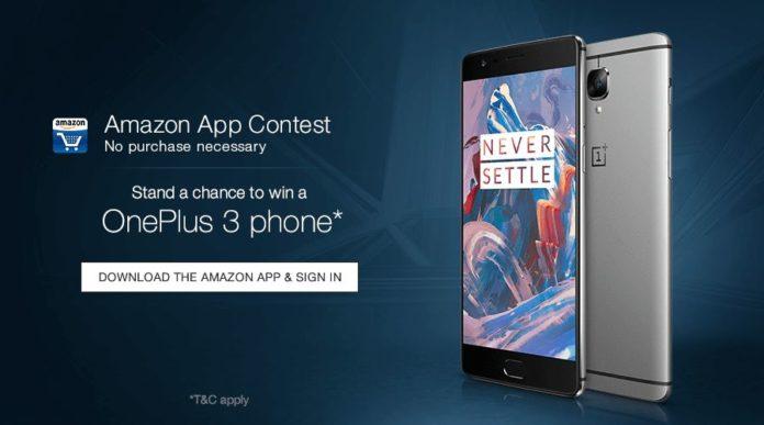 amazon Oneplus 3 Contest