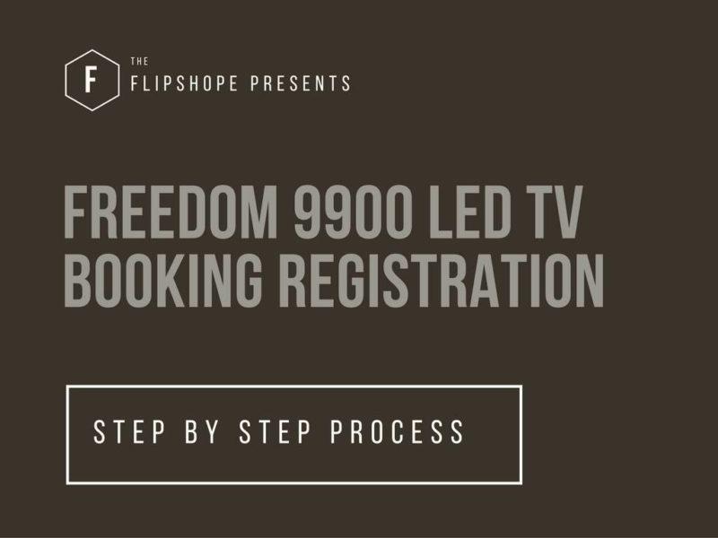 freedom 9900 led tv booking