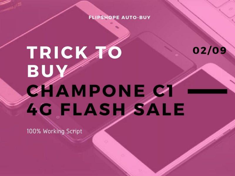 trick to buy ChampOne C1 flash sale