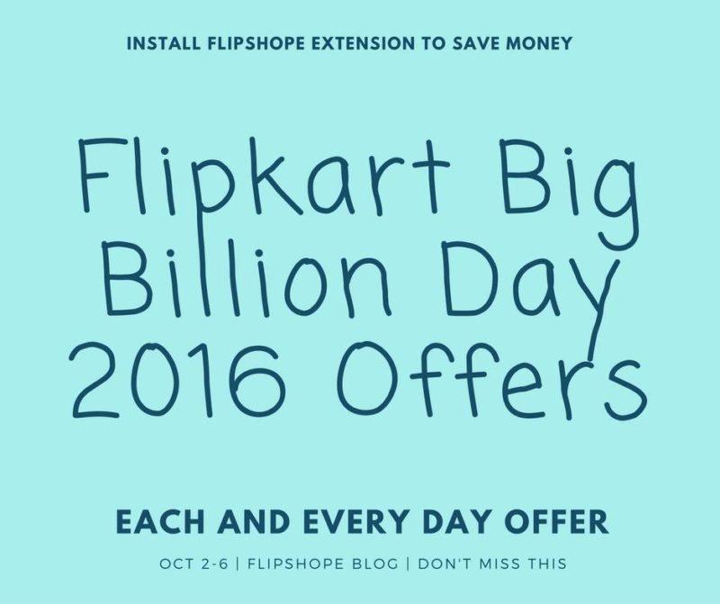 flipkart big billion day 2016