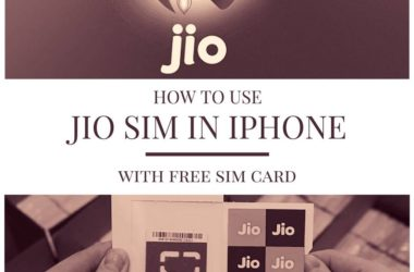 how to use jio sim in iphone