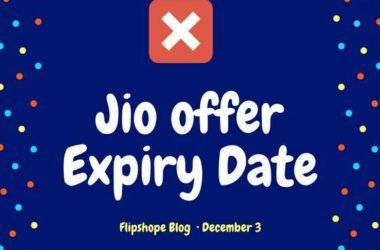 jio sim offer expiry date