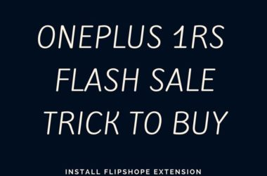 oneplus 1 rs flash sale