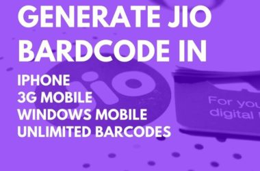 how to generate jio barcode in 2g 3g 4g iphone windows phone unlimited