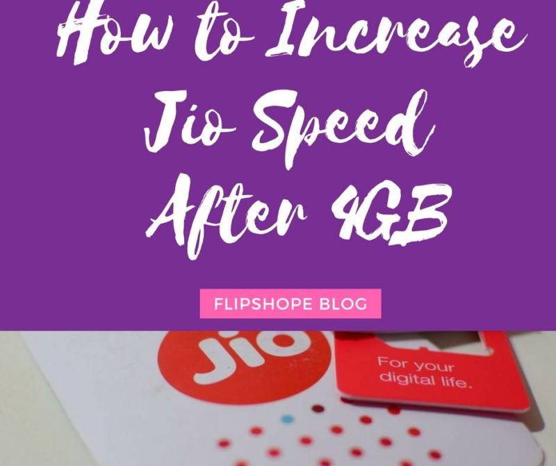 how to increase jio speed after 4gb limit