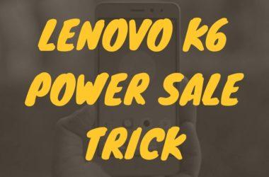 how to buy lenovo k6 power flipkart open flash sale