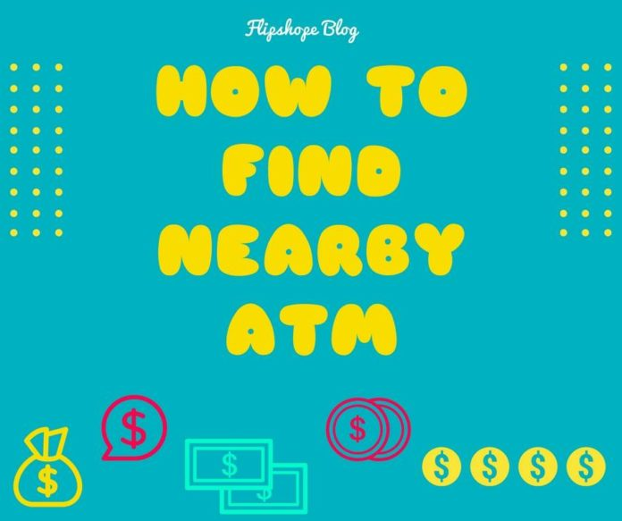 how to find nearby ATM branch trick SBI
