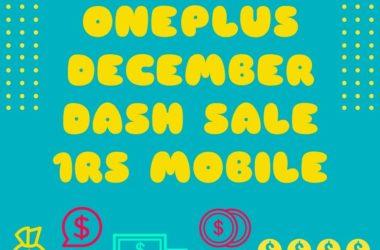 oneplus december dash flash sale