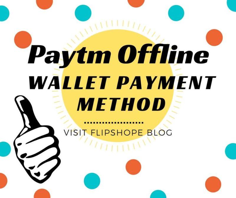 paytm offline wallet payment method option pin