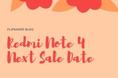 Redmi Note 4 Next Sale Date