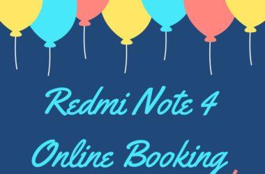 redmi note 4 online booking registration