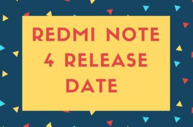 Redmi note 4 release Date in india