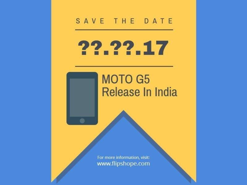 Moto G5 Release Date in india