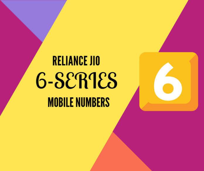jio 6 series mobile numbers