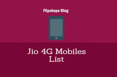 Reliance jio 4g mobiles price list