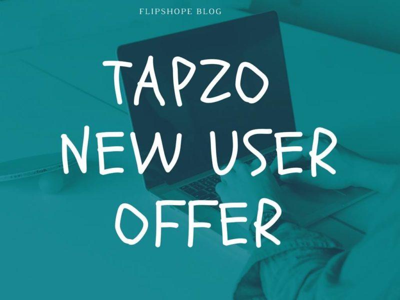 tapzo new user offer