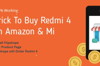 Trick to buy redmi 4 flash sale script on amazon