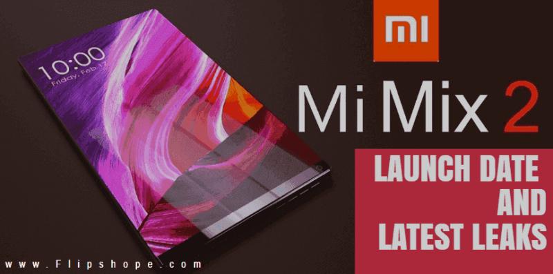 Xiaomi Mi Mix 2 launch date