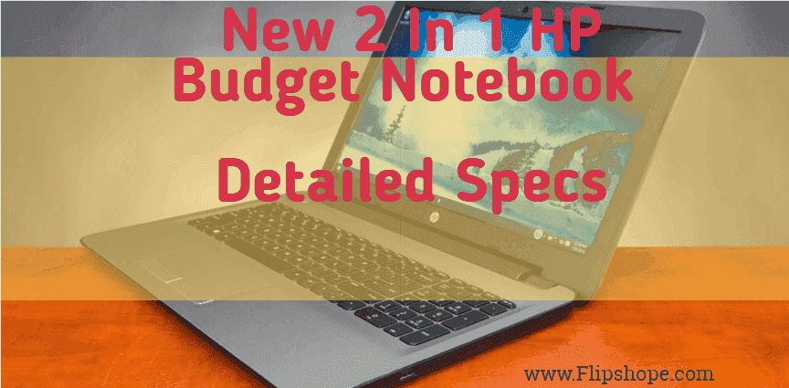 New 2 in 1 hp budget notebook