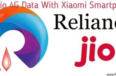Free Jio 4G Data With Xiaomi Smartphones