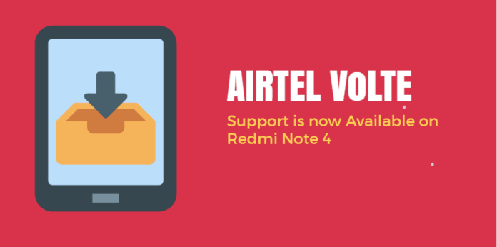 airtel volte support on redmi note 4