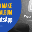 how to make photo album in whatsapp