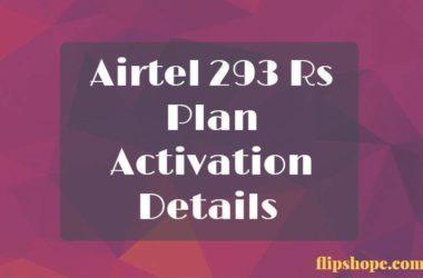 Airtel 293 Rs Plan