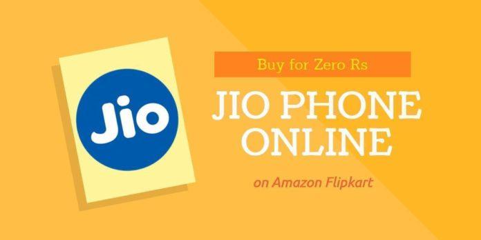 Buy Jio Phone online on Amazon Flipkart