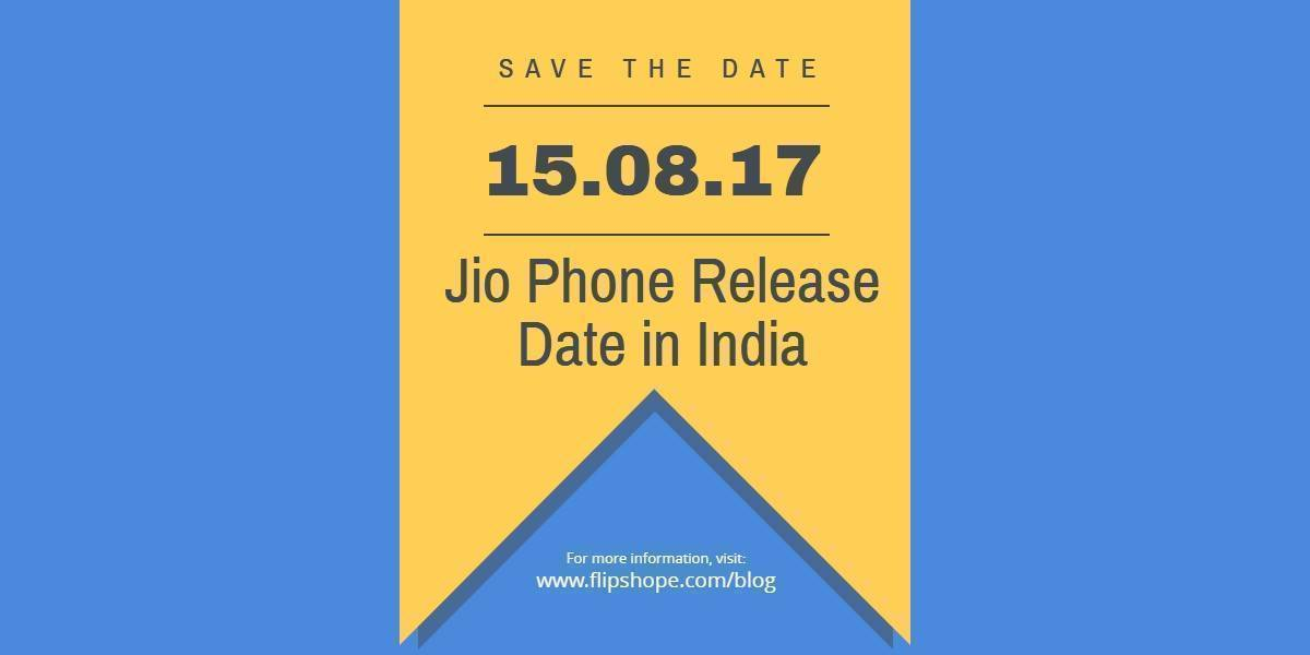 Jio Phone Release Date in India