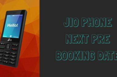 Jio Phone Next Pre Booking Date