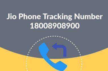 Jio Phone Tracking Number 18008908900