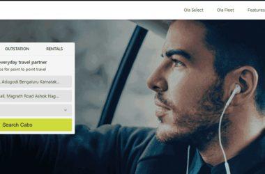 book ola cab from desktop
