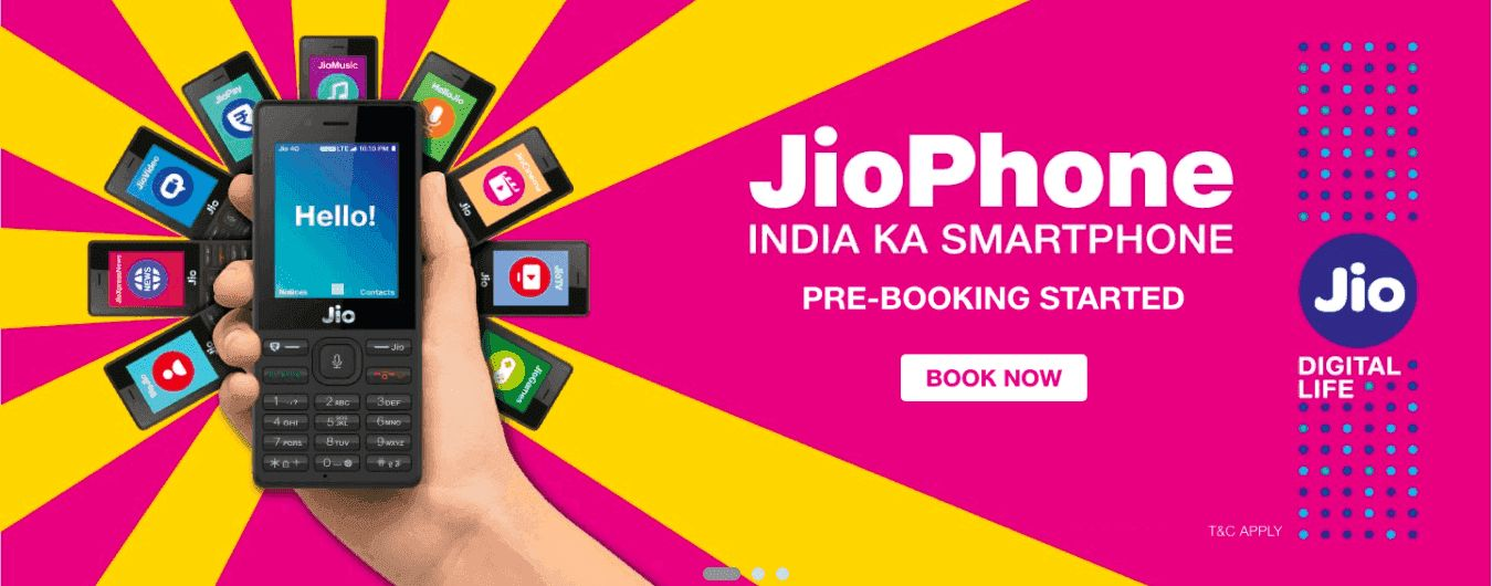 how to pre book jio phone