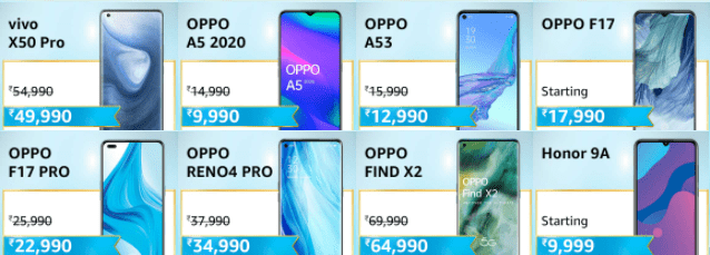 Oppo mobiles, Honor mobiles, Redmi mobiles Diwali offers