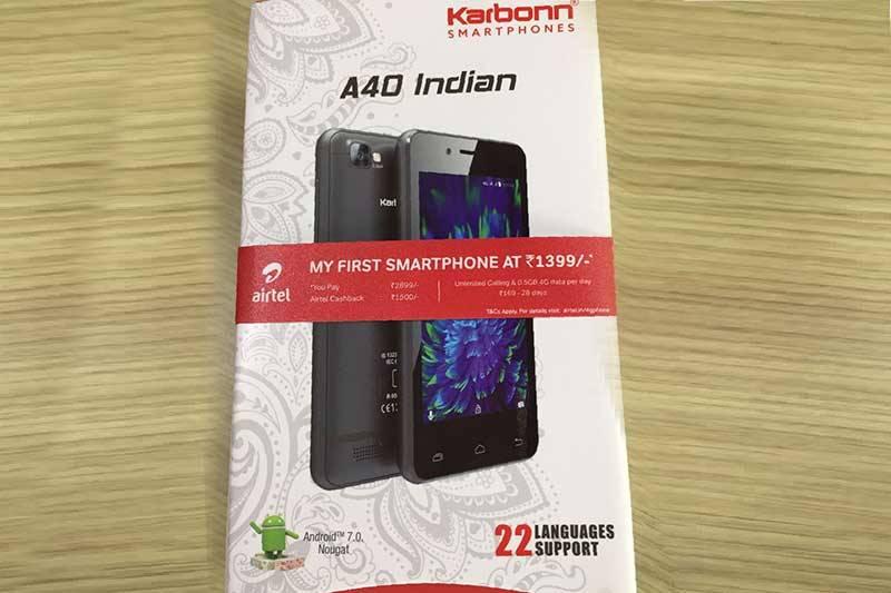 airtel 1399 Rs smartphone