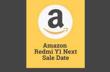 amazon redmi y1 next flash sale date