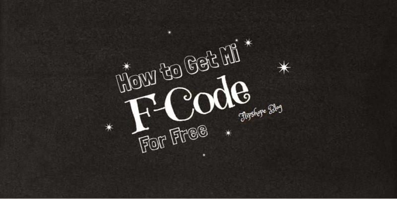 how to get mi f-code