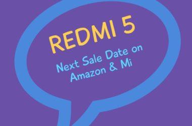 Redmi 5 next sale date