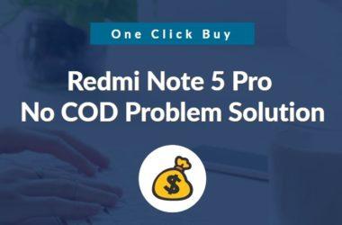 Redmi Note 5 pro no cod option