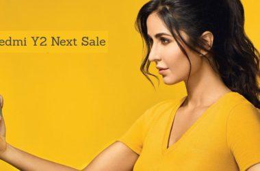 Redmi Y2 Next sale date