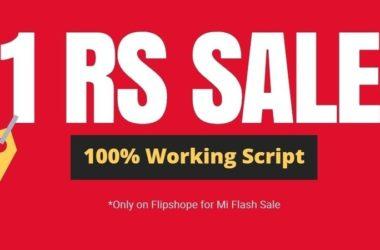 Mi 1Rs Flash Sale