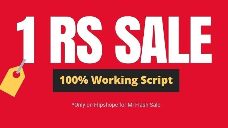 Mi 1Rs Flash Sale