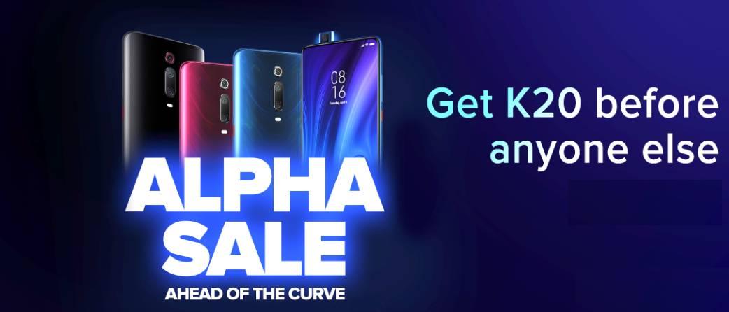 Redmi k20 alpha sale, alpha sale trick